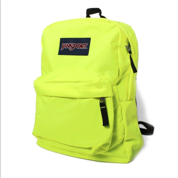 Jansport neon yellow backpack cb3c155cc27a2
